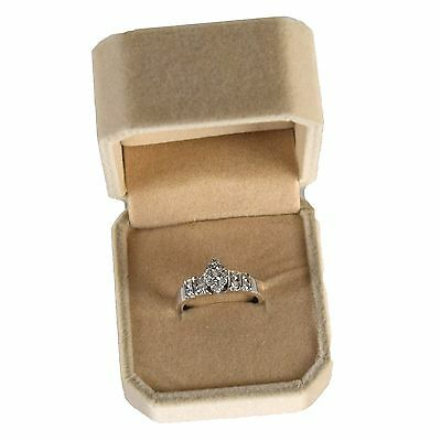 Diamond .50 ct Ring Marquis Shape Womens Engagement Wedding Ring 14K White Gold