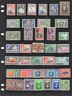 Collection of mint Commonwealth stamps.