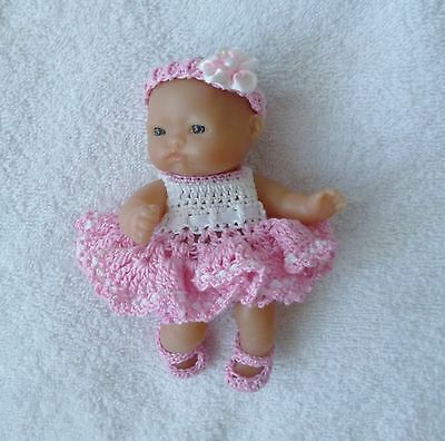 """Croched dolls Clothes to fit   5""""BERENGUER,LOTS TO LOVE"""