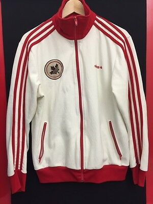 Adidas Canada retro Jacket / Trackie Top / Tracksuit top / hoodie (red and white