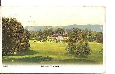 Lovely Very Early Vintage Postcard,the Priory ,reigate,surrey,1907