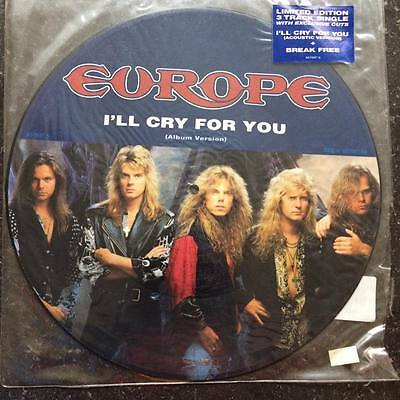 """Europe - I'll Cry For You limited Edition 12"""" Picture Disc Rock Bon Jovi"""