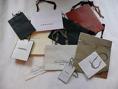 Assorted Genuine Designer Carrier Bags Job Lot 2.great Condition Chanel Missoni