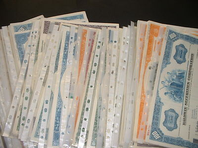 SCRIPOPHILY OLD CERTIFICATES  30 DIFFERENT U.S.A.  SHARE / STOCK BONDs