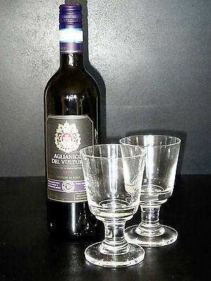 "A pair of Dartington Crystal ""rummer"" wine glasses FT104/2"