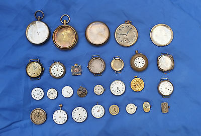 Vintage Pocket Watch Faces, Workings and Cases Silver / Gold