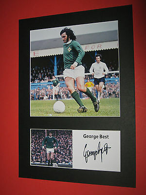 George Best Northern Ireland A4 Mount Signed Reprint Autograph Manchester United