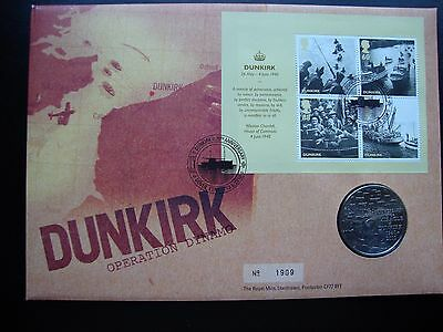 Dunkirk 70th Anniversary FDC and commemorative medal 2010