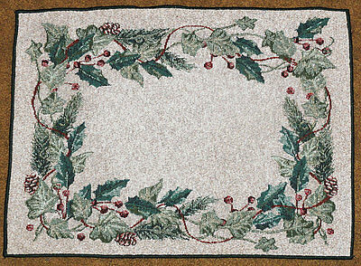 Christmas Ivy Holiday Tapestry Placemat
