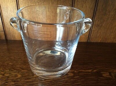 The White Company Glass Ice Bucket Brand New With Label
