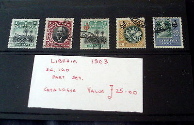 1903 Liberia Part Set, Fine Used, Stated To Catalogue £25.