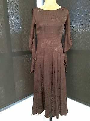 Vintage MAXI  DRESS, SIZE S DESIGNER GHOST,MADE IN ENGLAND