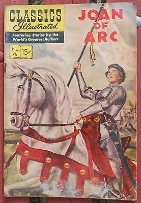 Classic Comics Illustrated French Heroine #78 Joan of Arc Comic Book