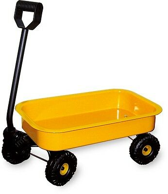 Small Metal Pull Along Childrens Wagon Trolley Cart Toy For Boys & Girls New