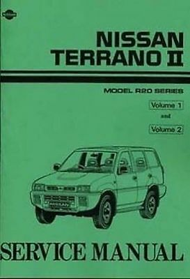 NISSAN Terrano II 2.4 Petrol & 2.7 TDI 1993 0n Shop manual 2 Volumes Book Paper