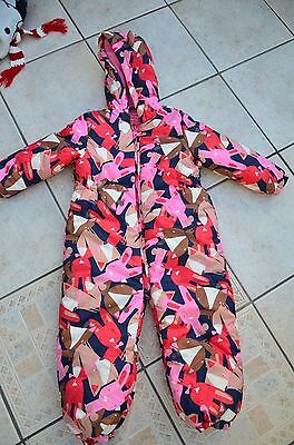 Immaculate Girls Next Padded Bunny Dog Snowsuit Age 4-5 Yrs Hardly Worn
