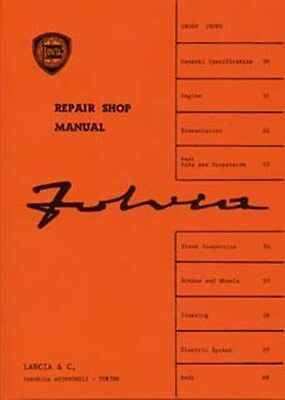 LANCIA Fulvia shop manual supplement included book paper car