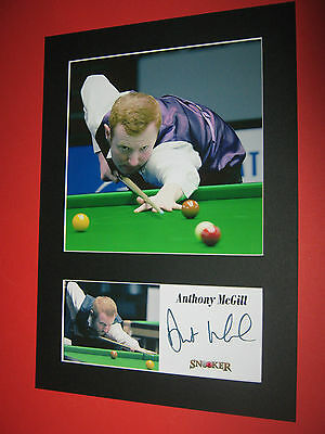 ANTHONY McGILL SNOOKER A4 PHOTO MOUNT SIGNED REPRINT AUTOGRAPH JIMMY WHITE