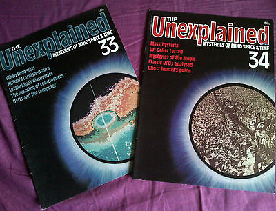 The Unexplained - Mysteries of mind, space & time. Issues 33 & 34.