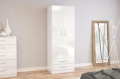 Lynx White High Gloss Bedroom Furniture Sets/wardrobes/draws