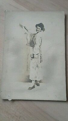 Antique Cabinet Card Photograph, Pretty Lady In Chinese Kimono