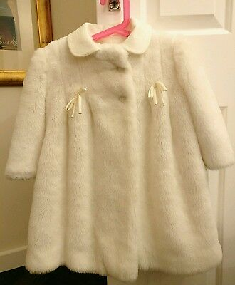 Baby girls furry coat and hat from Spain 2 years
