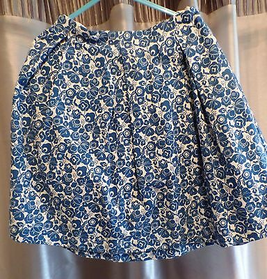 Girls size 6 - Blue and white skirt by Caramel Baby
