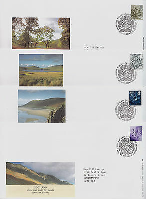 GB RM 4 x FDC: 11/05/2004 40p Regionals + Tallents House Cancels