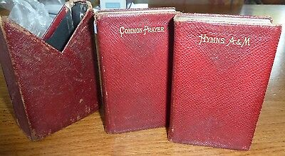 Antique miniture pocket books - Common Prayers and Hymes Ancient &  Modern  1905