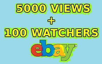 I will promote your ebay product listing with views and watchers