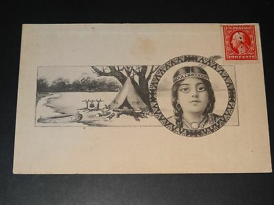 Cpa - Indienne - 1911