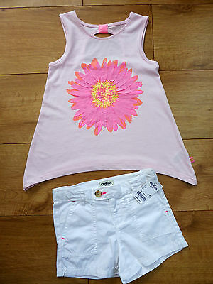 Bnwt Girls' Top & Shorts Summer Outfit Size 5-6 Years