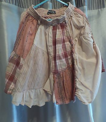 Girls size 4 - Cotton check skirt by Jean Bourget