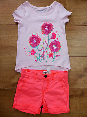 Bnwot Girls' Top & Shorts Summer Outfit Size 4 Years