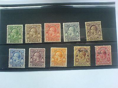 Turks & Caicos King George V 1928 Short Set to 1/- & 2 War stamps Mounted Mint