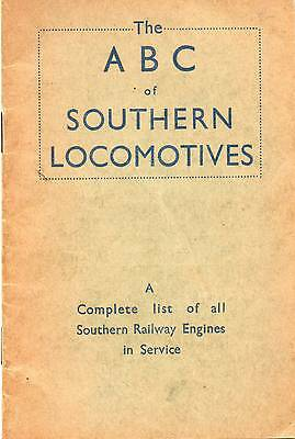 IAN ALLAN ABC of SOUTHERN LOCOMOTIVES **FIRST EDITION DECMBER 1942** NO MARKINGS