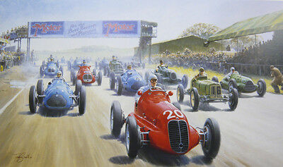 The Start of Silverstone, Tony Smith, Signed Limited Edition Print