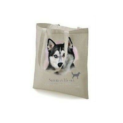 Siberian Husky Printed Design No 17417, Tote Natural Colour Shopping Bag
