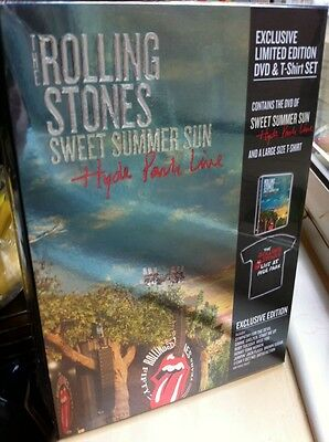 Rolling Stones Sweet Summer Sun - Dvd T Shirt Large Box Set New