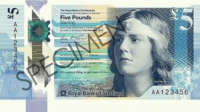 Royal Bank of Scotland Polymer £5 Notes with A Prefix numbers