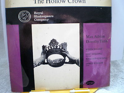 """ROYAL SHAKESPEARE COMPANY- The Hollow Crown-UK 7"""" EP-1962-NM"""