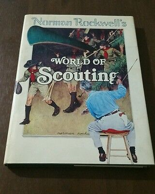 Norman Rockwell's WORLD OF SCOUTING 1977 Hardcover Book Free Shipping Boy Scouts