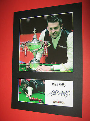 Mark Selby Snooker A4 Photo Mount Signed Reprint Autograph Jimmy White