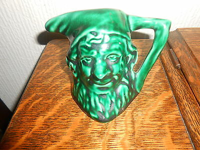 Vintage Character Jug.pixie/goblin/elf/gnome/bottle-Green Colour.unusual