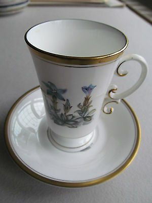 Royal Worcester Tall Cup And Saucer