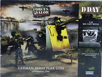 Forces Of Valor #80234 1/32 WWII German Flak 88mm Gun D-Day Normandy 1944--NIB