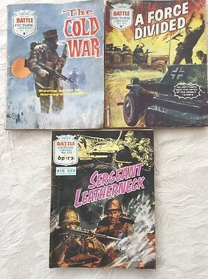 3 Battle Picture Library Comics 60's/Early 70's