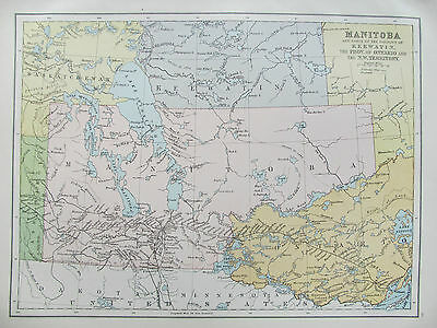CANADA - MANITOBA - ANTIQUE MAP - PUBLISHED c.1895
