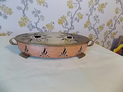 Vintage French Copper/brass Plate/Food Warmer