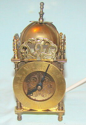 Smiths Brass Electric Lantern Clock-Nice Cosmetic Condition- Untested
